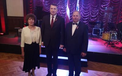 Domes priekšsēdētāja kopā ar uzņēmēju viesojas pie Valsts prezidenta