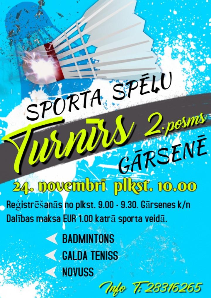 24. novembrī sporta spēļu turnīrs Gārsenē
