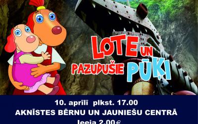 10. aprīlī Aknīstes BJC filma bērniem