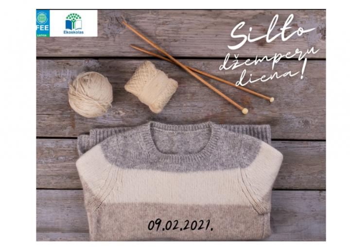 """Ekoskolu programmas februāra akcija """"Silto džemperu diena"""""""