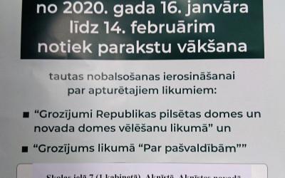 Parakstu vākšana tautas nobalsošanas ierosināšanai par apturētajiem likumiem (2020. gads)