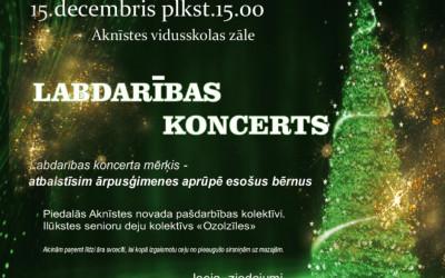 Labdarības koncerts Aknīsts novadā
