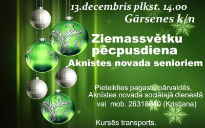 Ziemassvētku pēcpusdiena Aknīstes novada senioriem