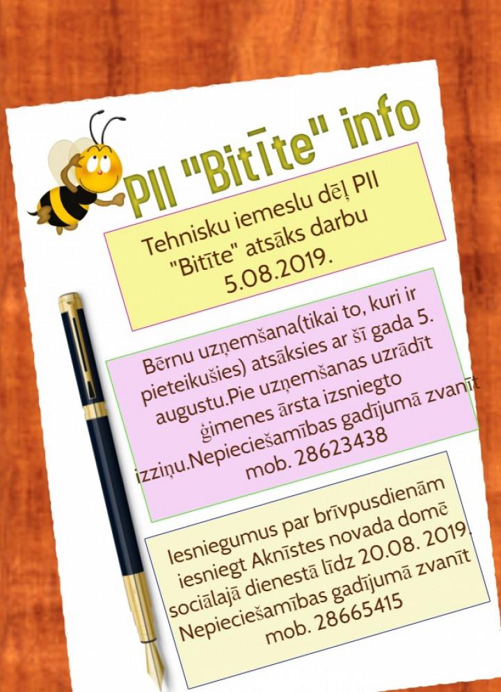"PII ""Bitīte"" informē"