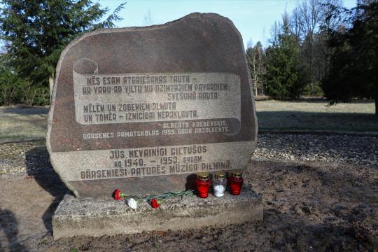 Aknīstes novadā piemin Komunistiskā genocīda upurus