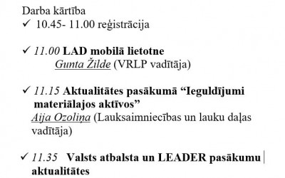 """LAD Viduslatvijas RLP seminārs   """"LAD aktualitātes"""""""