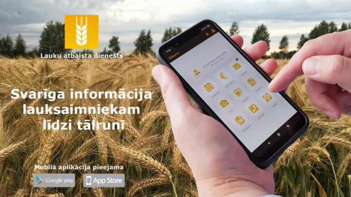 Lauksaimniekiem pieejama mobilā aplikācija