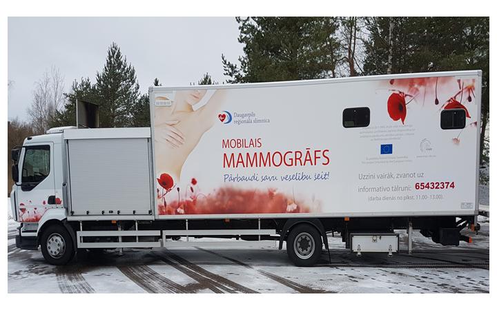 2019. gada 28. septembrī-  mobilais mamogrāfs  Aknīstē