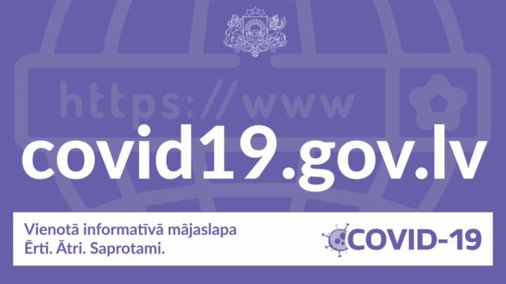 Ir izveidota vienota informatīvā Covid-19 mājaslapa