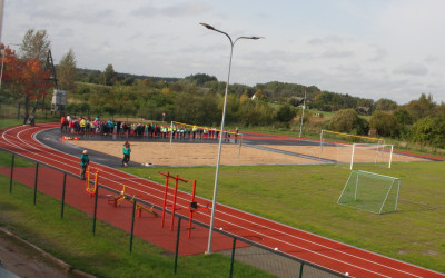 Informācija par Aknīstes vidusskolas stadiona izmantošanu.